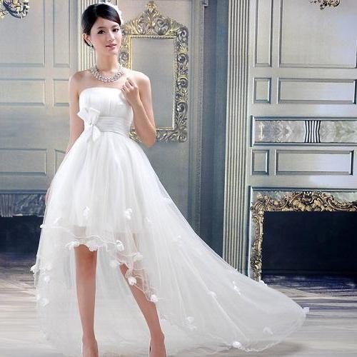 tener bolsillos vestido de novia moderno y juvenil