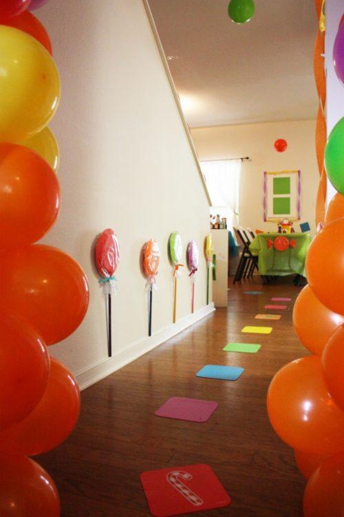 decoracin en una casa para festejar el cumpleaos de un nio