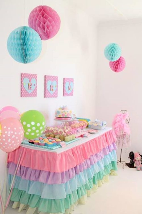 affordable una hermosa idea para decorar cumpleaos infantiles de nias with ideas para decorar cumpleaos infantil