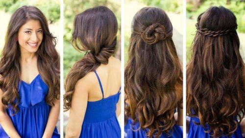 diferentes propuestas para cabello largo