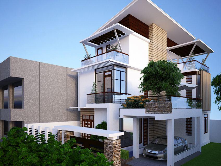 Fachadas para casas de tres pisos modernas 48 im genes for Casas contemporaneas en esquina