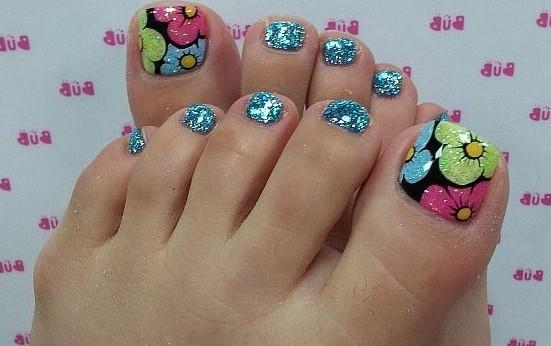 Figuras de uñas decoradas para pies con los mejores