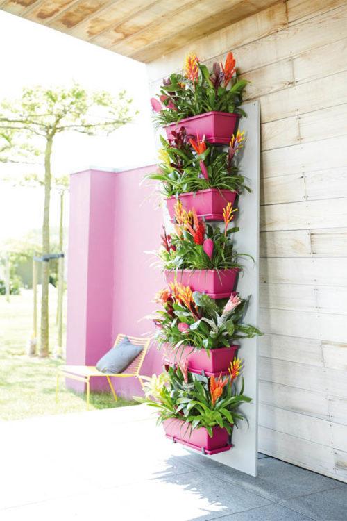 Macetas verticales tela para jardines verticales x m for Macetas para muros verticales