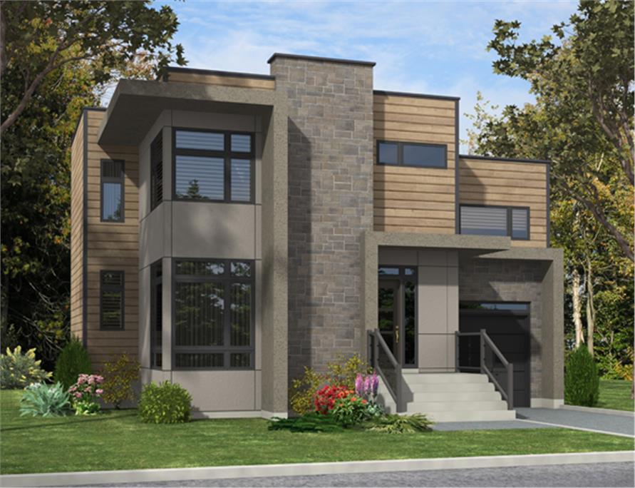 Casas planta baja modernas great projetos with casas for Frentes de casas modernas planta baja