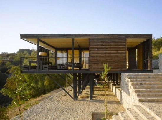 Fachadas de casas r sticas coloniales y de campo ant guas for Casas rectangulares
