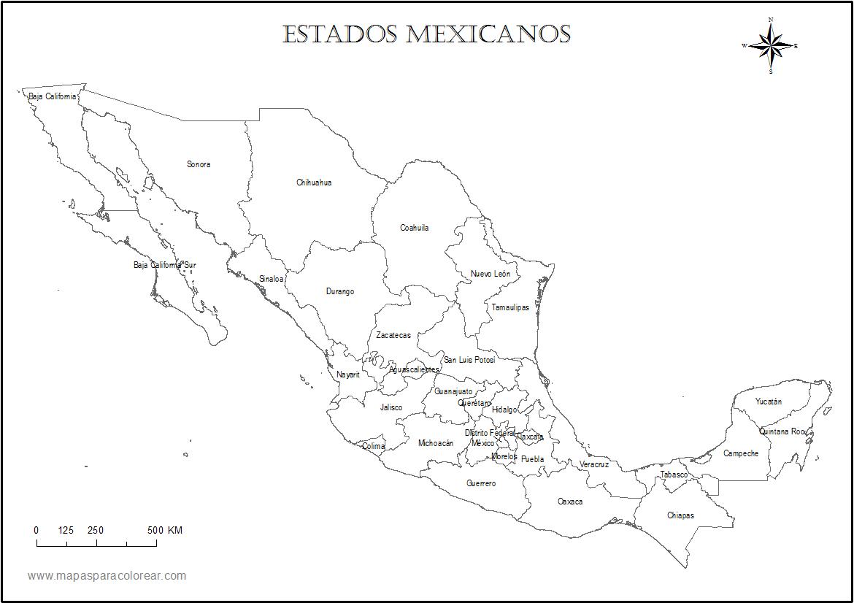 25 Hermoso Mapa De Mexico Por Estados Y Capitales