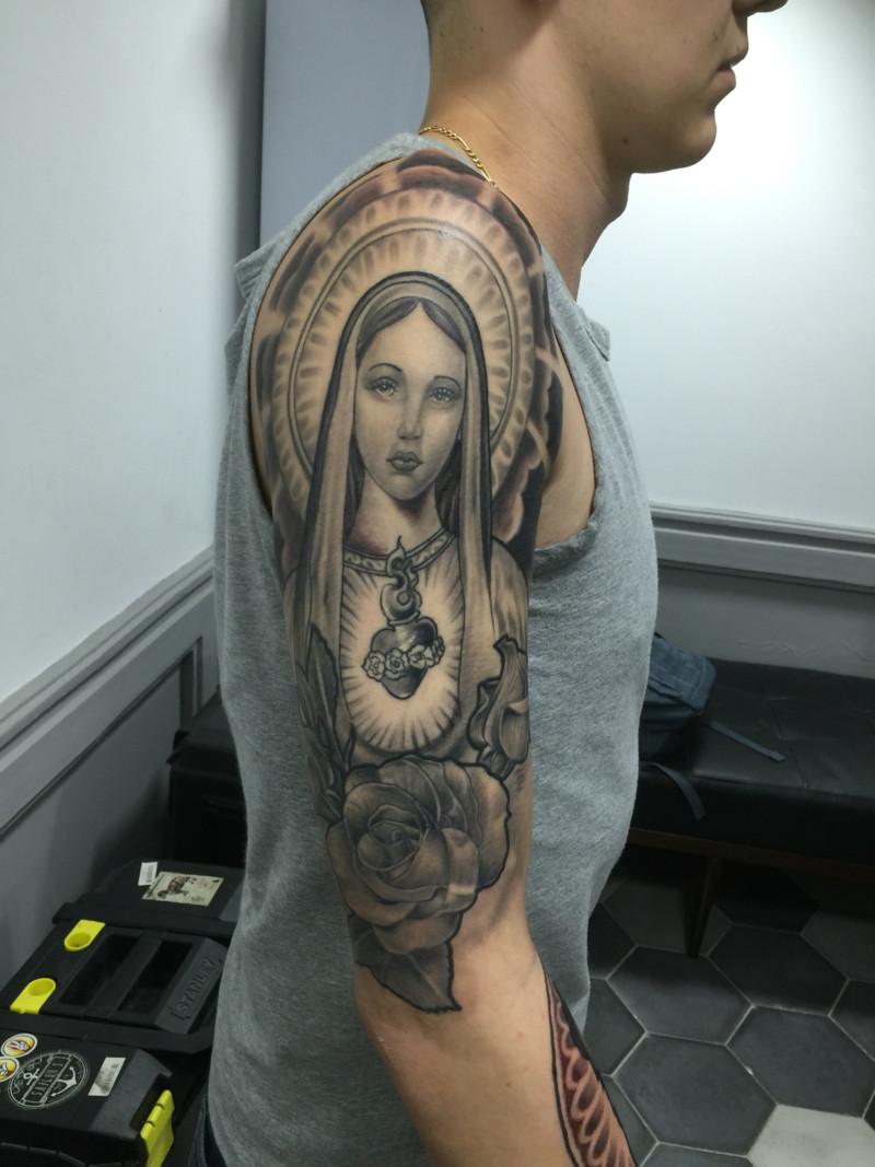 Tatuajes Religiosos De Jesus Cruces 193 Ngeles Y V 237 Rgenes Informaci 243 N Im 225 Genes