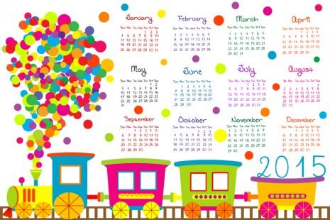 Cartoon-Train-Calendar-2015-Vector