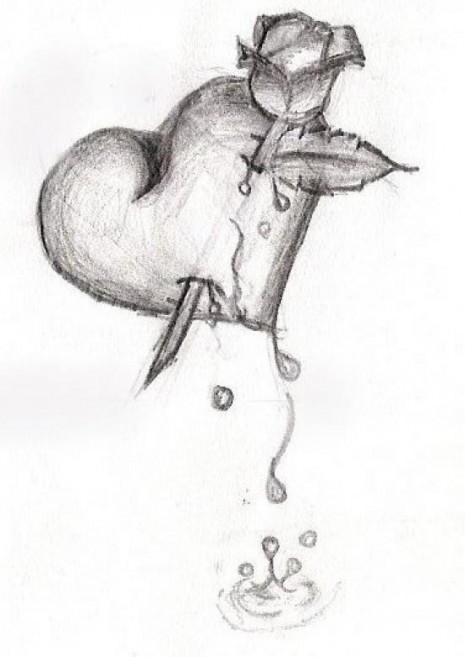 Dibujos Artisticos De Corazones Hechos A Lápiz Información Imágenes
