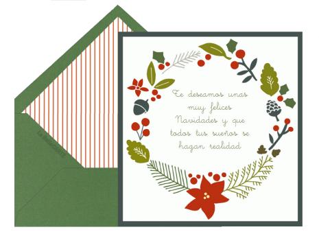 Tarjetas clásicas para Navidad y Año Nuevo para imprimir ...