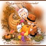 Imágenes de Día de Acción de Gracias con frases para dedicar
