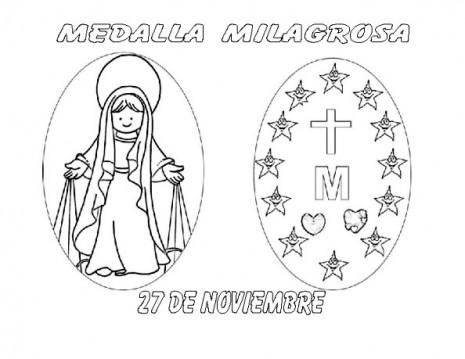 Dia De La Vírgen De La Medalla Milagrosa Para Pintar