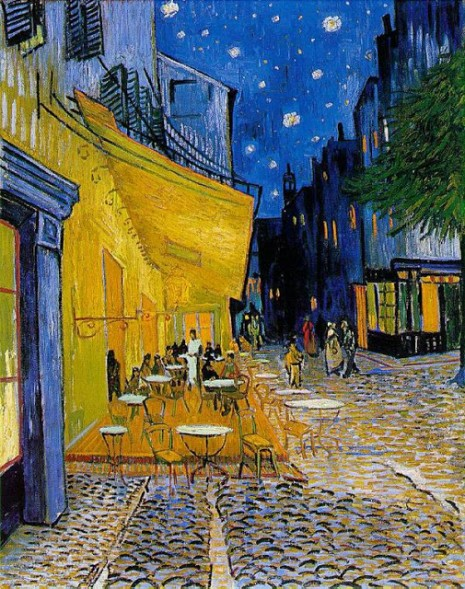 pinturavincet vangohTerraza de café por la noche (Cafe Terrace at Night)