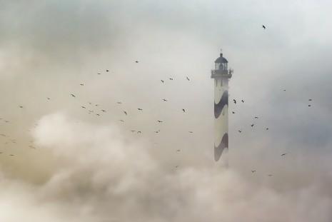 Faro de Lange Nelle, Ostend, Belgica
