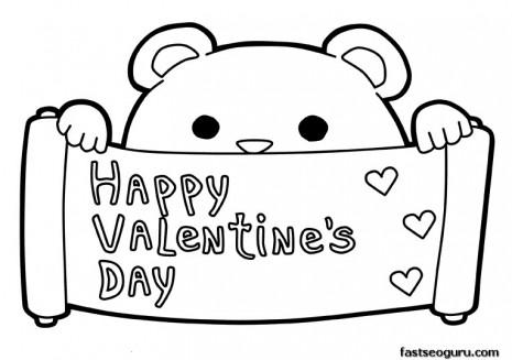 Dibujos Para Colorear De Happy Valentine S Day