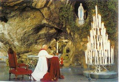lourdesJuan Pablo II y la Virgen de Lourdes