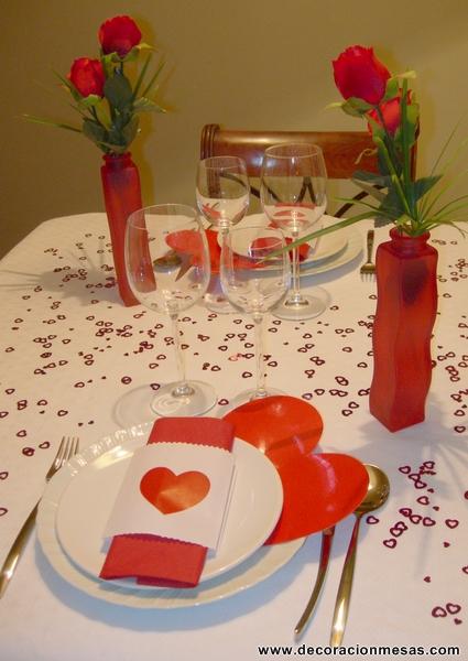 Decoraci n para la mesa de san valent n informaci n im genes - Como hacer adornos de san valentin ...