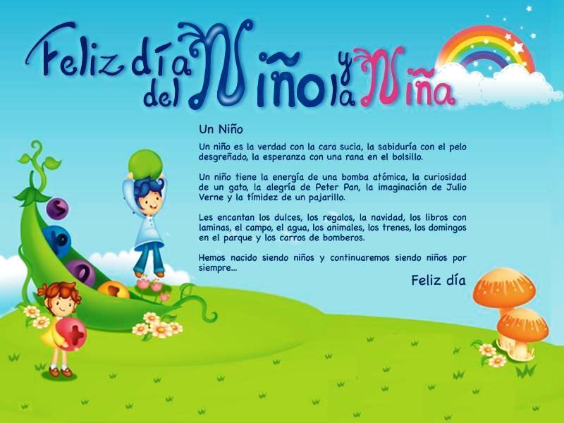 Descargar Lindas Tarjetas Para El Día Del Niño Con Frases: Imágenes Con Frases De Felíz Día Del Niño Para Dedicar El