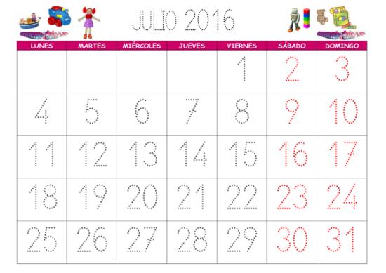 Calendarios 2016 infantiles para descargar (1)