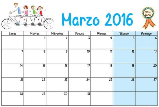 Calendarios 2016 infantiles para descargar (5)