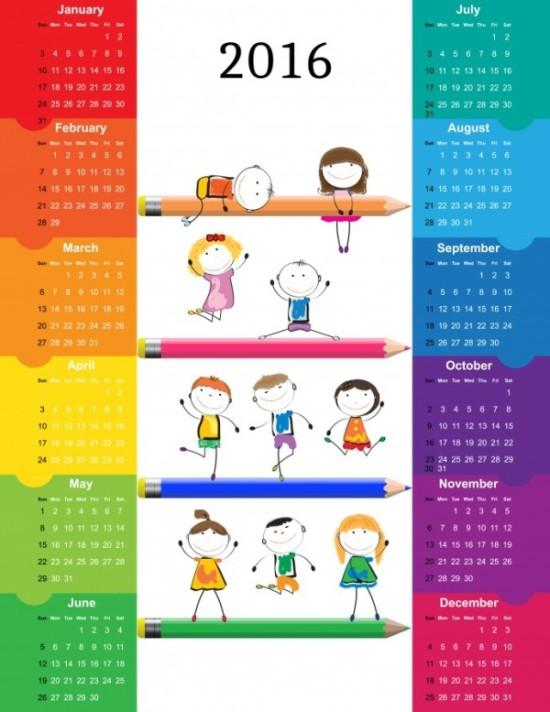 Calendarios 2016 infantiles para descargar (7)