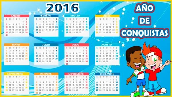 Calendarios 2016 Con Dibujos Para Ni 241 Os Para Descargar E