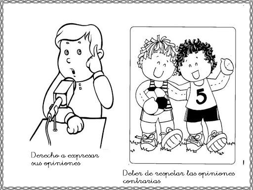 NiÑos Y Deberes Para Colorear: Dibujos Del Día Internacional De Los Derechos Humanos Para