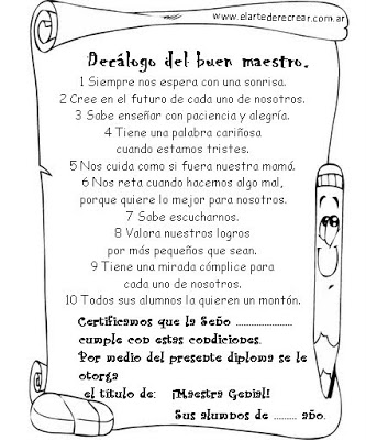 Dibujos dia del Docente para colorear  (7)