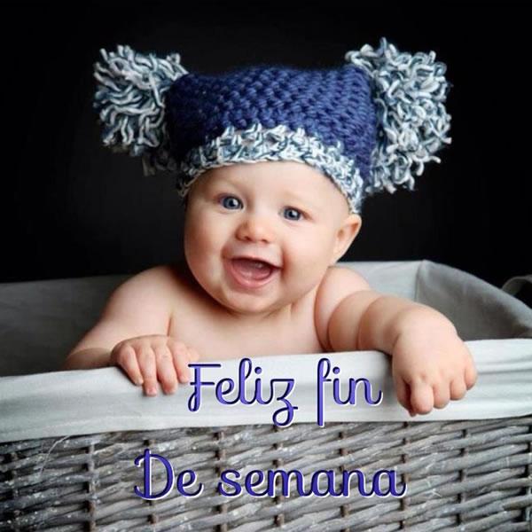 Imágenes de Bebés con frases Bonitas de Felíz Sábado