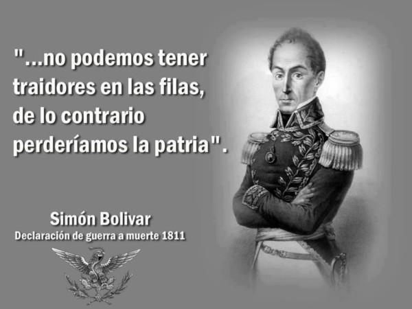 Información y Frases célebres de Simón Bolívar