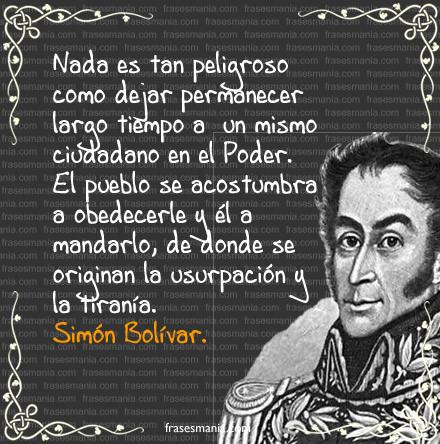 Frases de Simon Bolivar  (13)