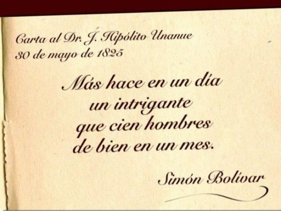 Frases de Simon Bolivar  (6)