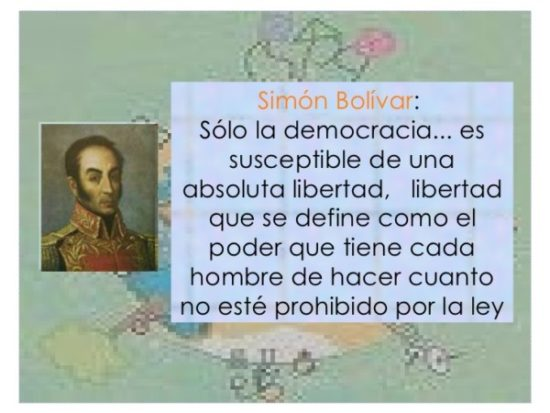 Frases de Simon Bolivar  (7)