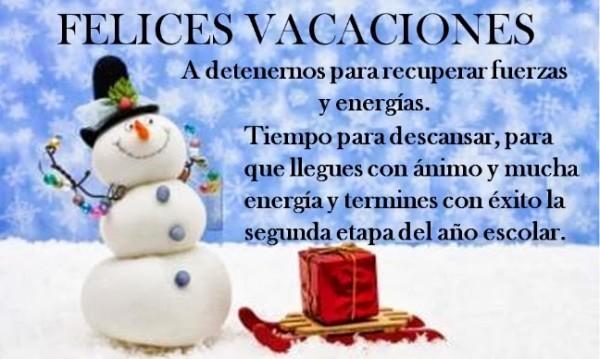 Imágenes De Felices Vacaciones De Invierno Con Dibujos