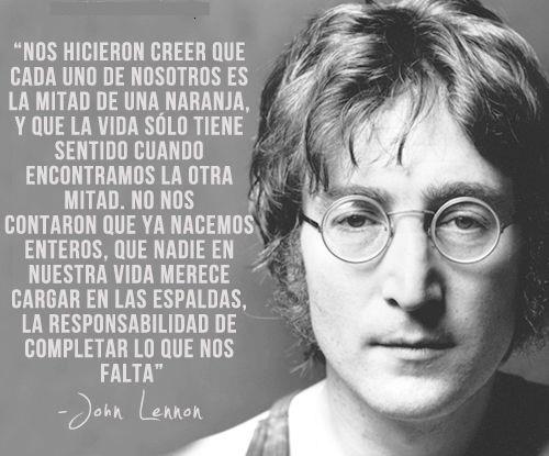 Palabras de John Lennon para pensar (1)
