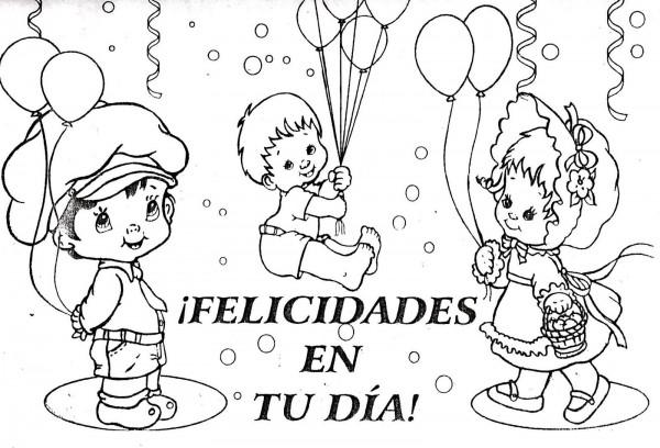 Imágenes Infantiles Del Día Del Niño Para Colorear E