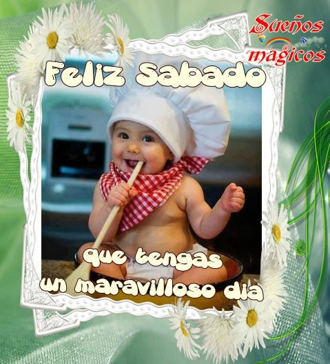 imágenes de Bebes con Frases Feliz Sabado (6)
