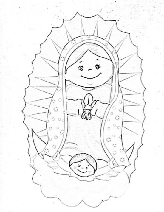 100 Imágenes De La Virgen De Guadalupe Para Colorear Coloreando