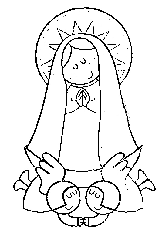 Dibujos infantiles de la Vírgen de Guadalupe para colorear ...