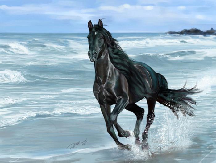 peinture chevaux wallpaper - photo #17