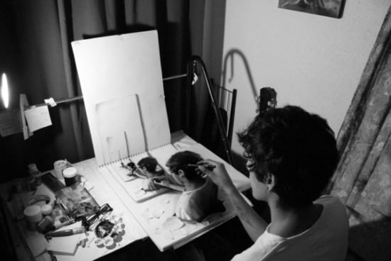 Dibujo blanco y negro 3D a lápiz (11)