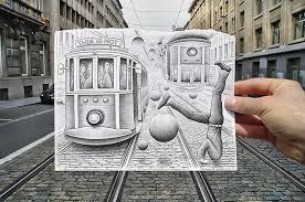 Dibujo blanco y negro 3D a lápiz (29)