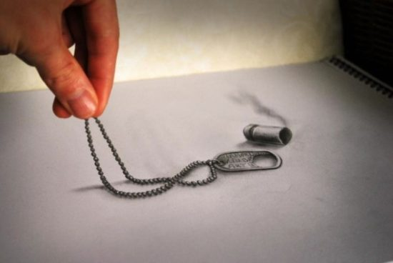 Dibujo blanco y negro 3D a lápiz (32)