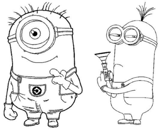 Divertidas Imágenes De Los Minions Con Dibujos Para