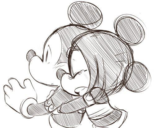 Mickey Mouse y Minnie en Blanco y negro (4)