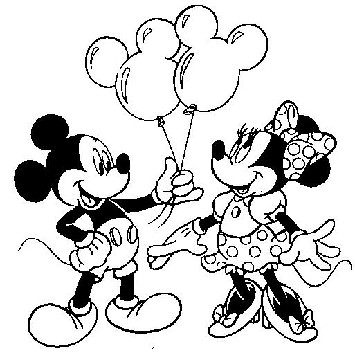Imágenes de Mickey Mouse y Minnie con frases o para colorear ...