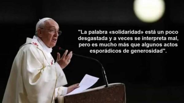 Imágenes del Papa Francisco con frases e información