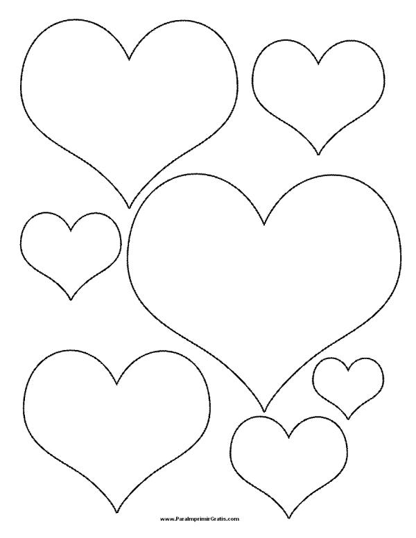 Corazones tiernos de Amor para colorear e imprimir | Información