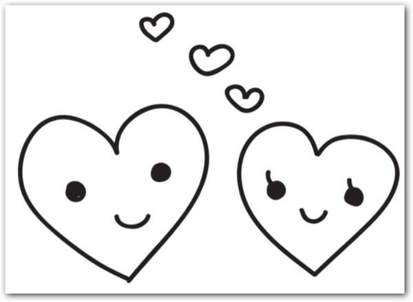 Corazones Tiernos De Amor Para Colorear E Imprimir Información