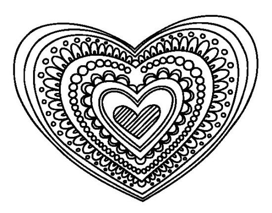 imágenes de corazones para Pintar  (5)
